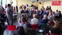 VIDEO. Poitiers : visite de la secrétaire d'Etat Emmanuelle Wargon au lycée du Dolmen