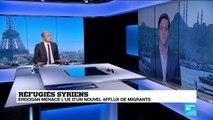 Erdogan menace de rouvrir les portes de l'Europe aux réfugiés syriens