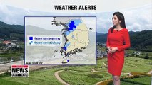 Seoul and the surrounding central region issued under heavy rain alerts _ 090519