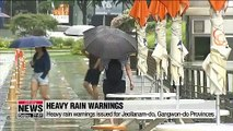 Heavy rain warning issued for Seoul and surrounding areas