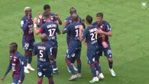 Le but victorieux de Jordan Tell lors du match amical SMCaen 1-0 FC Nantes