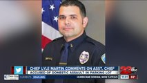 Bakersfield Police Chief Lyle Martin speaks on arrest of Assistant Chief of Police Evan Demestihas on domestic violence charges
