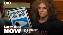Comedian Carrot Top shows off his vast collection of creative props