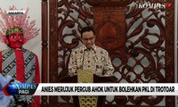 Merujuk Pergub Ahok, Anies Bolehkan PKL Jualan di Trotoar