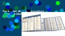 Full Version  Medical Abbreviations   Acronyms (Quickstudy: Academic) Complete