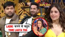 Ayushmann Khuranna FUNNY REACTION On Being A Girl | The Kapil Sharma Show | Dream Girl