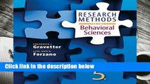 [Doc] Research Methods for the Behavioral Sciences
