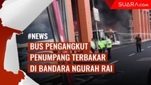 Bus Pengangkut Penumpang Terbakar di Bandara Ngurah Rai Bali