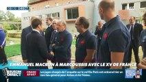 Président Magnien ! : Emmanuel Macron à Marcoussis avec le XV de France - 06/09