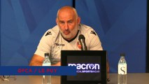 J6 - le point presse du coach F. Ciccolini avant la réception du Puy