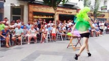 Contestants in high heels compete in 'drag race' during Benidorm's Pride festival
