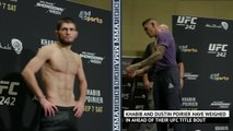 Khabib and Poirier both make weight ahead of title bout