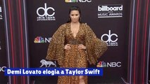 Demi Lovato elogia a Taylor Swift