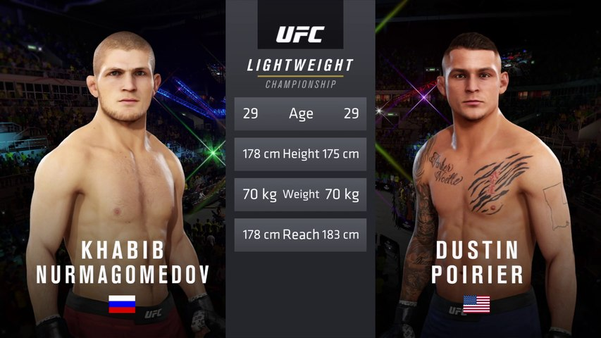 UFC 242: Khabib vs. Poirier - UFC Lightweight Title Fight - CPU Prediction