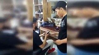 Mécontent de sa coupe il oblige les coiffeurs à se raser la tête en les menaçants avec une batte