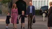 Princess Charlotte and Prince George Taken to First Day of School by Prince William and Kate Middleton