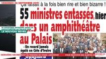 Le Titrologue du 06 Septembre 2019 : 55 ministres entassés dans un amphithéâtre au palais hier