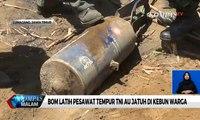 Bom Latih Pesawat Tempur TNI AU Jatuh di Kebun Warga