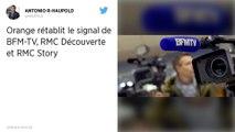 BFMTV de nouveau disponible sur la box Orange après un accord avec Altice