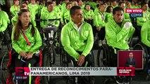 Entrega de reconocimientos para-panamericanos en Palacio Nacional