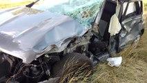 Grave accident chaussée de Beaumont à Givry.. Vidéo Eric GHISLAIN