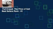 Full E-book  The Price of Salt  Best Sellers Rank : #2
