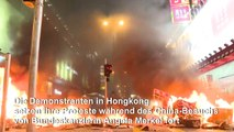Proteste in Hongkong während Merkels China-Besuch