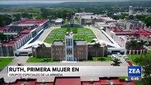 Primera mujer en formar parte de las Fuerzas Especiales de la Armada de México