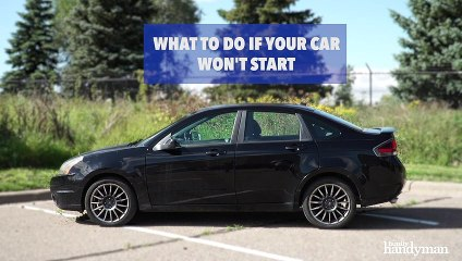 What To Do If Your Car Won't Start 1