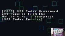 [FREE] USA Today Crossword: 200 Puzzles from the Nation s No. 1 Newspaper (USA Today Puzzles)