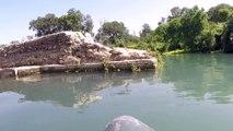 Jim Ward rafting down the river