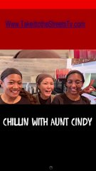 Chillin with Aunt Cindy at Mamas Diner