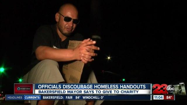 Bakersfield officials discourage homeless handouts