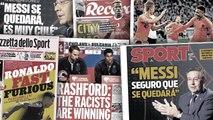 Les déclarations de Bartomeu sur Messi font trembler la Catalogne, CR7 l'homme le plus rapide de Serie A