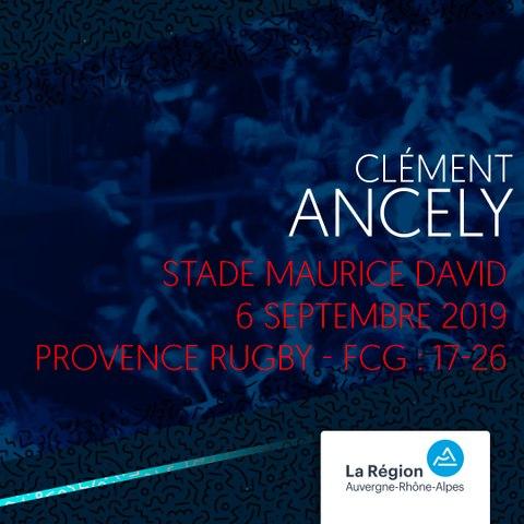 Video : Video - L'essai de Clément Ancely contre Provence Rugby