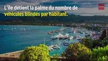 La Corse, garage de luxe pour voitures blindées