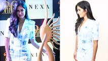 Katrina Kaif rocks the denim dress Look;Watch video | FilmiBeat
