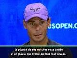 """US Open - Nadal : """"Je vais affronter un joueur de haut niveau"""""""