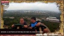 Espagne : Un touriste rattrape un portable en plein vol pendant un manège (Vidéo)