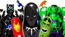 Go Avengers~- Black Panther, Hulk, Iron Man vs Thanos - Monster Battle Toys Play