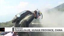 Wingsuit : les meilleurs athlètes au monde se retrouvent en Chine