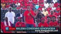 Julius Malema, leader of the EFF (Economic Freedom Fighters) party, sincerely apologizes on behalf of South Africa under the name of Ramaphosa Blunders: I am ashamed today that my name is South African, the atrocious images that come from some cities