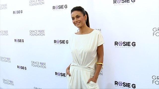 Emmanuelle Chriqui 16th Annual Grace Rose Fashion Fundraiser Purple Carpet