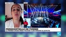 FR NW CLIP TUNISIE PREMIER DEBAT TELEVISE ELECTION PRESIDENT