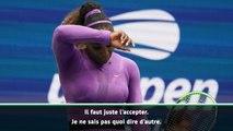 """US Open - Williams : """"Le pire match que j'ai disputé dans un tournoi"""""""