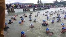 Le départ du 15e Triathlon international d'Aix-les-Bains