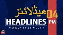 ARY NEWS HEADLINES   FM CHINA MEETS PM IMRAN   04 PM   8 SEPTEMBER 2019