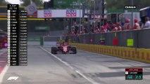Leclerc et Hamilton roue dans roue à la sortie des stands !