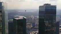 رکوردشکنی بندبازان بر فراز آسمانخراشهای مسکو