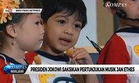 Senyum Bahagia Jokowi Saksikan Konser Jan Ethes